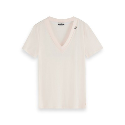 A/T-shirt SCOTCH AND SODA col V manches courtes