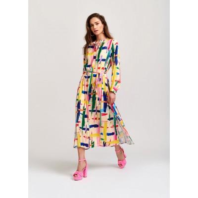 A/ESSENTIEL Robe VALILA chemise graphique à rayures multicolores