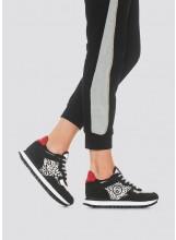 A/Liu.jo Sneakers noires avec imprimé animalier