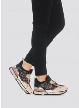 A/Sneakers LIU.JO en maille filet et satin imprimé
