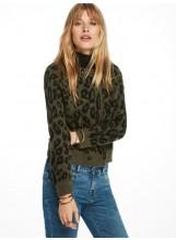 Cardigan SCOTCH AND SODA jacquard léopard