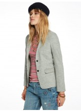 SCOTCH AND SODA Blazer en laine Grey mélange