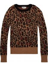 SCOTCH AND SODA Pull léopard