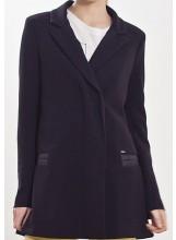 IKKS manteau croisé femme noir