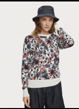 A/SCOTCH AND SODA Pull coton et laine imprimé