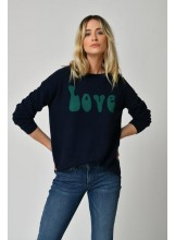 A/FIVE JEANS Pull LOVE NAVY