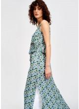 longue robe ESSENTIEL imprimé floral sans manches avec strass
