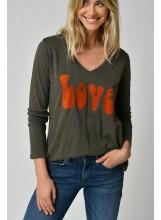 A/Tee-shirt LOVE- IVY GREEN