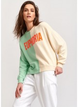 A/Sweatshirt Euphoria vert menthe Essentiel