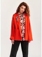 A-Cardigan orange oversize Essentiel