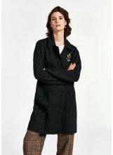A/Manteau ESSENTIEL maille /noir tricoté       Epuisé