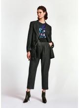A/ESSENTIEL Pantalon fuselé noir et blanc élastique taille Epuisé