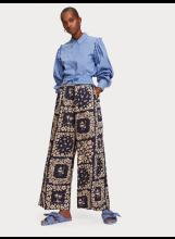 A/Pantalon imprimé à jambes larges