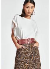 T-shirt en coton bio avec dentelle REF: Zollywood t-shirt pn23